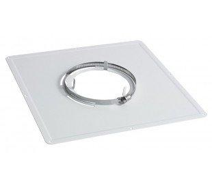 Plaque de propreté carrée blanche Ten - Poêle à bois