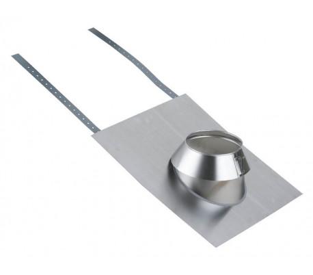 Solin inox tuile pour pente de toit de 15° à 30° INOX-INOX - Poêle à bois