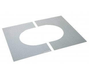 Plaque de propreté galva INOX-INOX - Poêle à bois