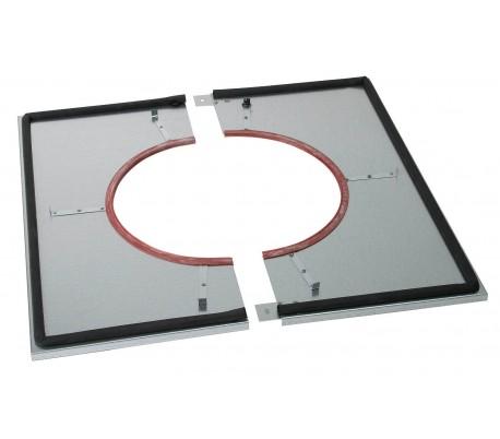 Plaque distance sécurité étanche pour plafond plat INOX-INOX - Poêle à bois