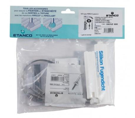 Kit de fixation BAC ACIER pour Pipeco Inox 304 - Poêle à bois