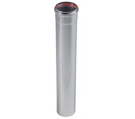 Tuyau Inox rigide 1 m Rigidten pour poêle à granulés