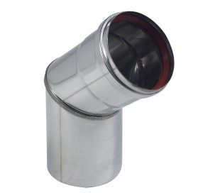 Coude Inox à 45° - Rigidten pour poêle à granulés
