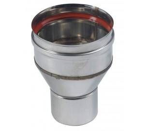 Réduction inox - Rigidten pour poêle à granulés