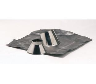 Solin inox pour pente de 5 à 30° + collet Inox 304 TEN - Poêle à bois