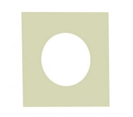 Plaque murale intérieure blanche Opsinox - Poêle à bois