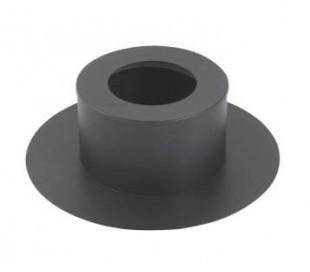 Cache conduit rond noir TEN - Poêle à granulés