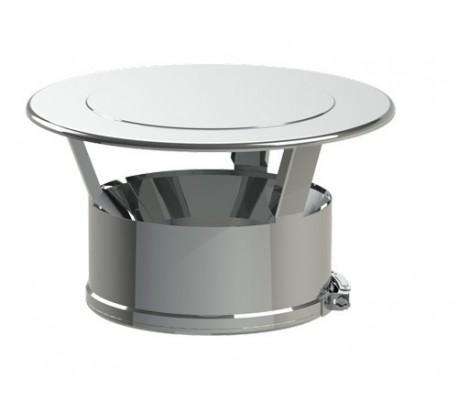 Chapeau plat inox Duoten - Poêle à bois