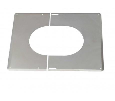 Plaque de finition Inox Duoten - Poêle à bois