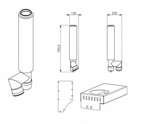 Kit d'adaptation sortie verticale R70