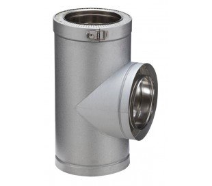 Té isolé à 90° Therminox ZI- Poêle à granulés