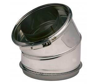 Coude isolé 45° Inox 316/Inox 304 Opsinox - Poêle à bois
