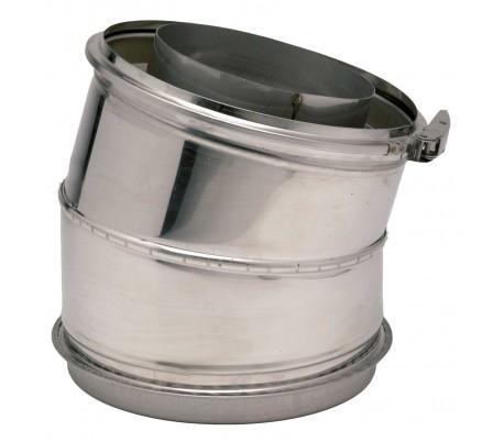 Coude isolé 15° Inox 316/Inox 304 Opsinox - Poêle à bois