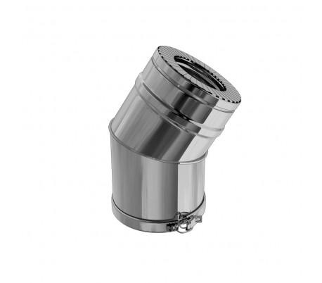 Coude isolé inox/inox angle 30° Duoten - Poêle à granulés