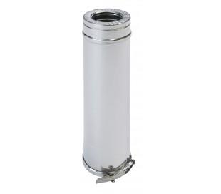 Tuyau isolé 1 m inox/inox Duoten - Poêle à granulés
