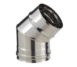 Coude PGI pour poêle à granulés angle 45° - Poujoulat