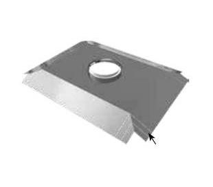 Plaque étanchéité carrée pour chapeau béton Ten - Poêle à bois
