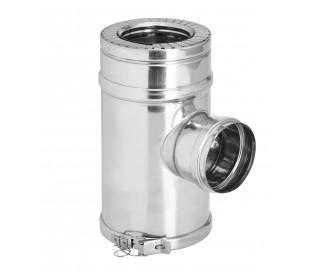 Té équerre 90° isolé inox/inox piquage simple 80F Duoten - Poêle à granulés