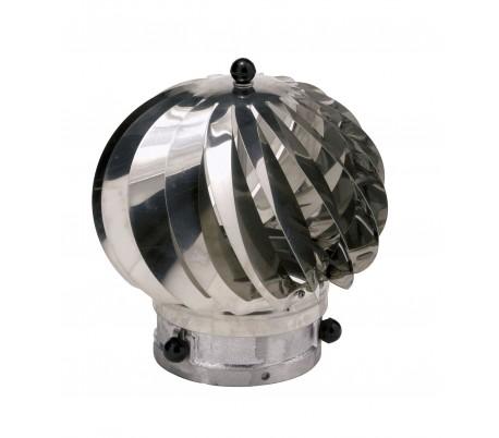 Chapeau aspirateur anti refoulement Aspiromatic inox Ten - Poêle à bois