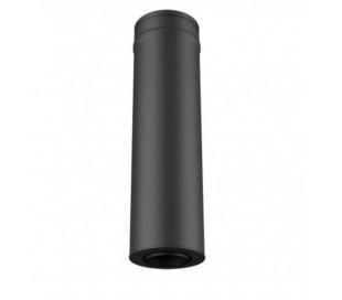 conduit de finition noir Ø100/150 pour simple paroi Ø80