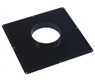 Plaque de connexion cheminée noire pour conduit concentrique Bioten