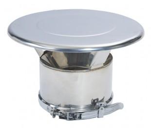 Finition chapeau inox/inox Duoten - Poêle à granulés