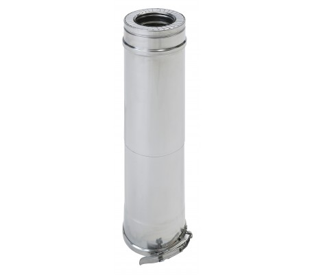 Tuyau isolé réglable inox/inox Duoten - Poêle à granulés