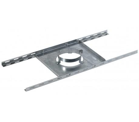 Support plancher en inox galvanisé Opsinox - Poêle à bois