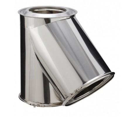 Té isolé inox à 135° INOX-INOX - Poêle à bois