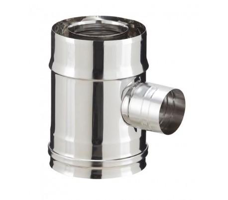 Elément droit de prise d'air 90° PGI pour poêle à granulés - Poujoulat