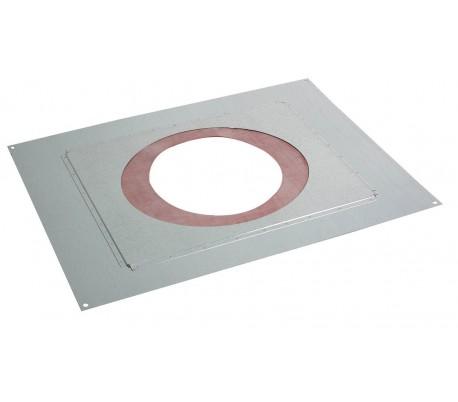 Plaque distance de sécurité étanche PGI pour poêle à granulés - Poujoulat