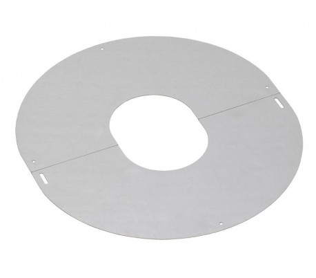 Plaque de propreté inox PGI pour poêle à granulés - Poujoulat