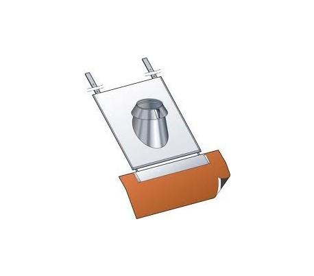 Solin inox pour tuile PGI pour poêle à granulés - Poujoulat