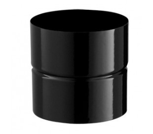 Adaptateur émaillé noir mat Poujoulat - Poêle à bois