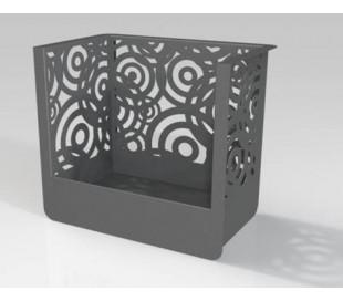 Porte bûche Linéa Cubic 50cm avec 4 roulettes