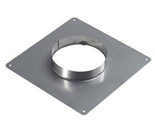 Plaque d\'étanchéité inox carré TEN - Poêle à granulés