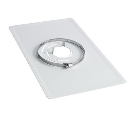 Plaque de propreté inox rectangulaire blanc TEN - Poêle à granulés