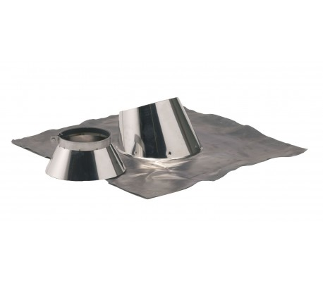 Solin inox + collerette d'étanchéité Duoten - Poêle à granulés